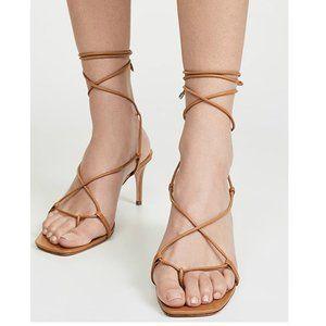 NEW SCHUTZ Antosha Square Toe Lace Up Heel